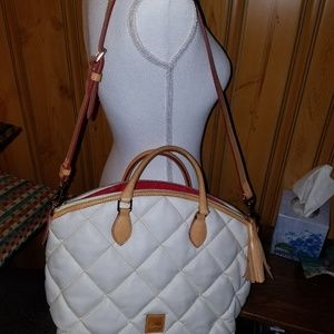 🛍DOONEY BOURKE  SPICY WHITE LEATHER QUILTED…